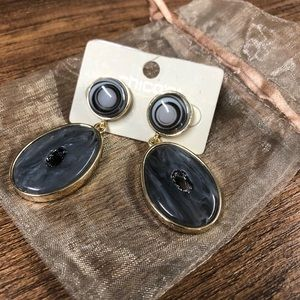 NWT Chico's Addy Agate Post Drop Earrings